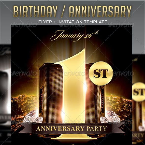 Birthday / Anniversary Party Flyer