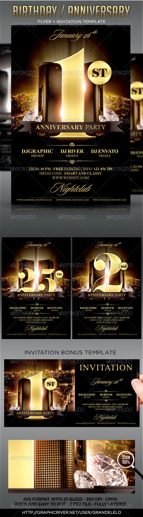 Birthday / Anniversary Party Flyer - Clubs & Parties Events