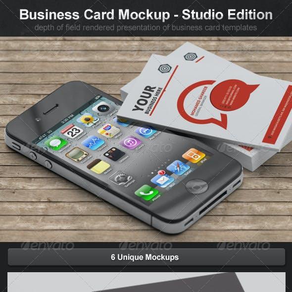 Business Card Mockups - Studio Edition