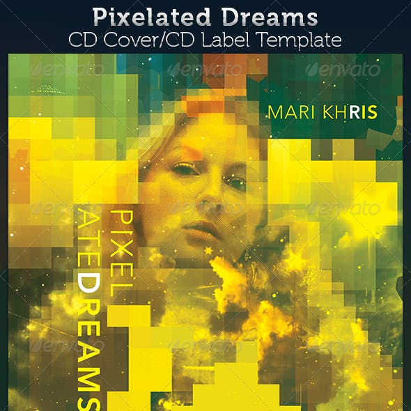 Pixelated Dreams CD Cover Artwork Template
