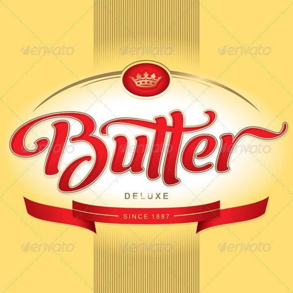 'Butter' Hand Lettering - Decorative Vectors