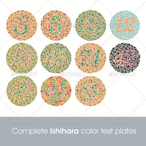 Complete ishihara color test - Health/Medicine Conceptual