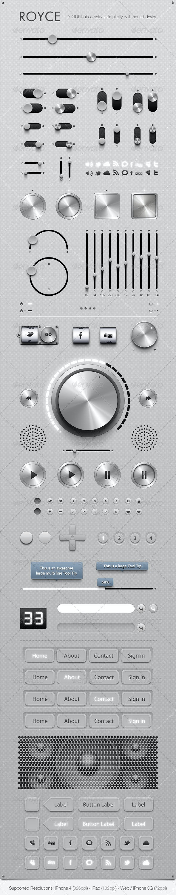 Royce - GUi - Graphical User Interface - User Interfaces Web Elements