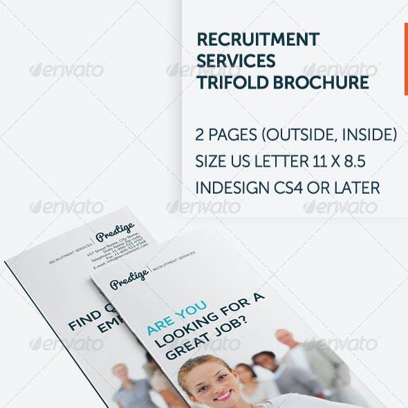 Recruitment Services Trifold Brochure