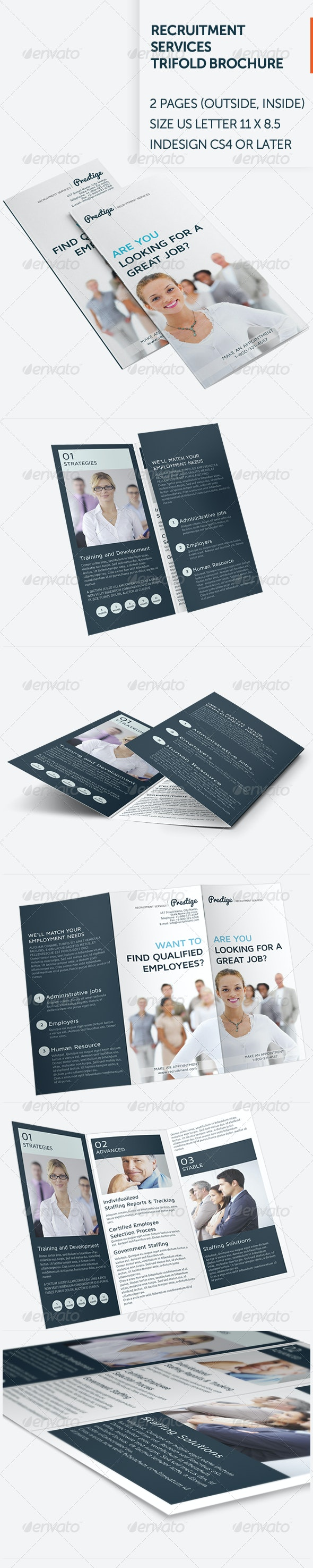 Recruitment Services Trifold Brochure - Informational Brochures