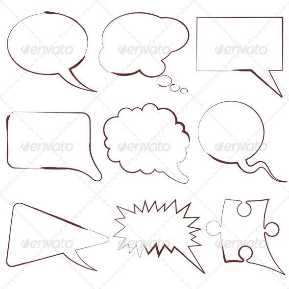 Speech Bubbles - Borders Decorative