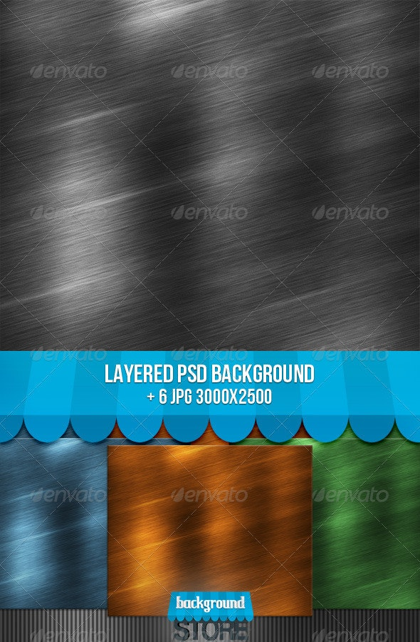 Brushed Metal Texture - Tech / Futuristic Backgrounds