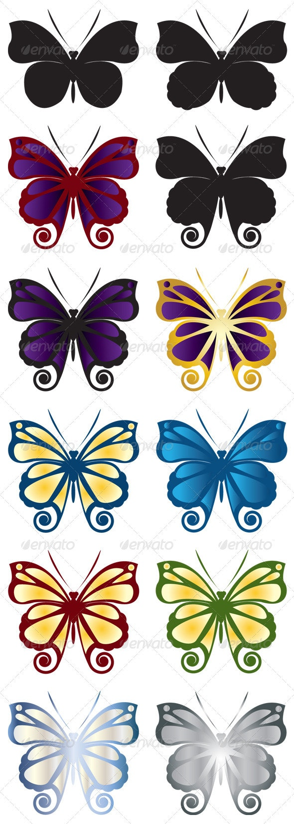 Butterfly symbol - Animals Characters