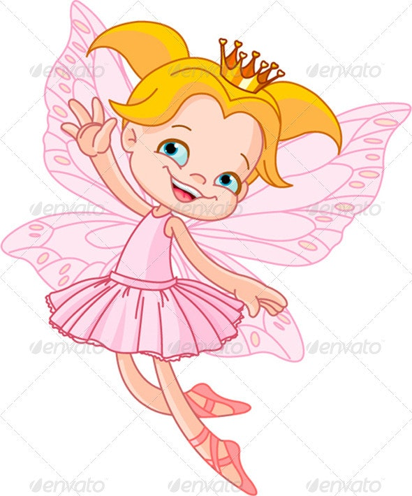 Little  flying fairy - Characters Vectors