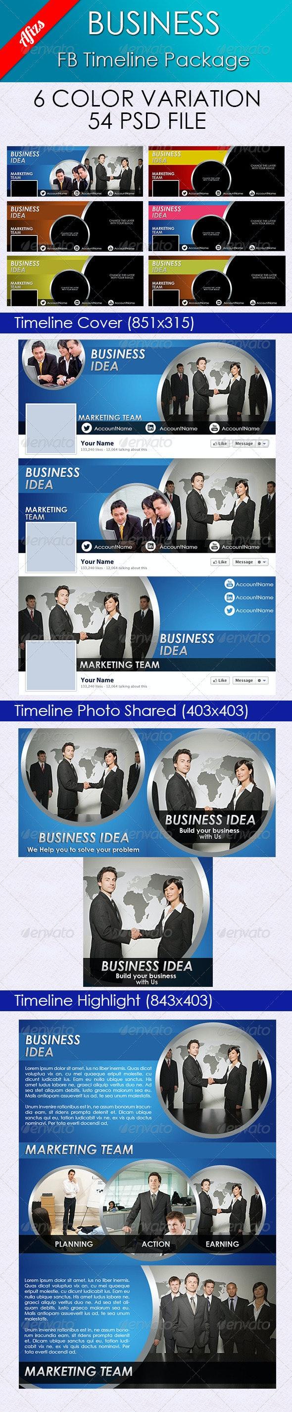 Business FB Timeline Package - Facebook Timeline Covers Social Media