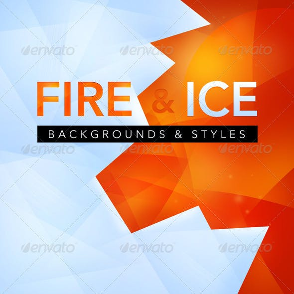 Fire and Ice backgrounds - text styles