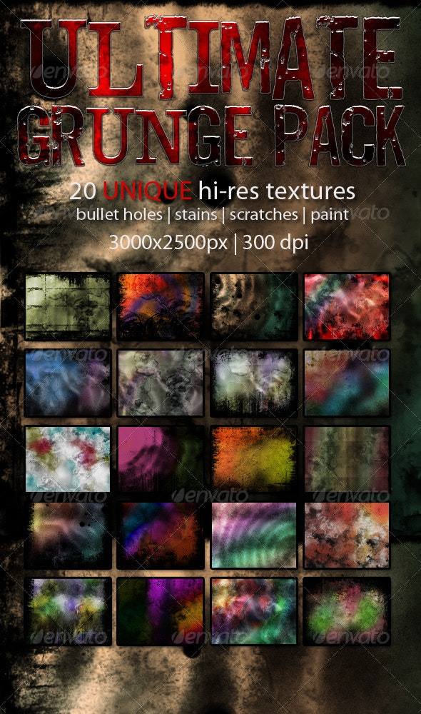 Ultimate Grunge Pack (20 original textures) - Industrial / Grunge Textures