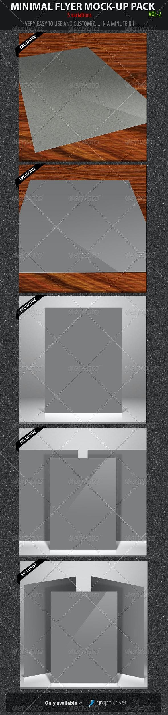 Minimal Flyer Mock-up Pack vol-2 - Flyers Print