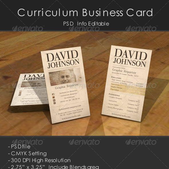 Curriculum Business Card