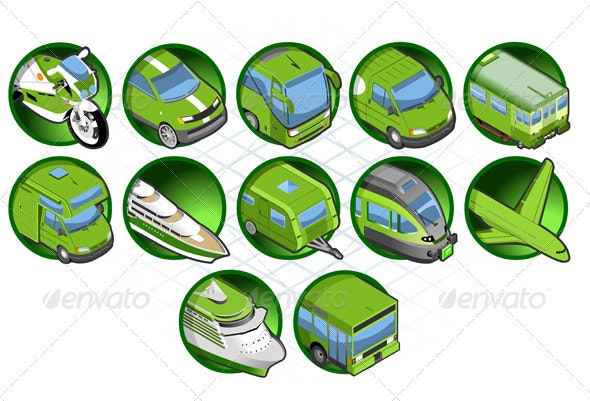 Isometric Set of a Travel Icons - Travel Conceptual
