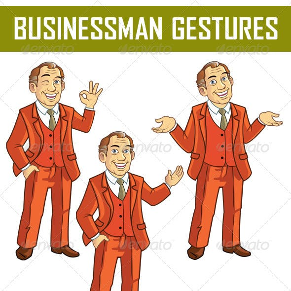 Businessman Gestures