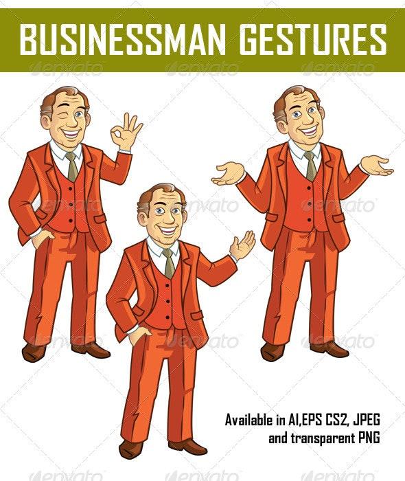 Businessman Gestures - People Characters