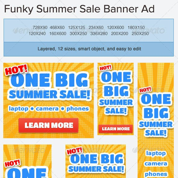 Summer Sale Banner Ad Template