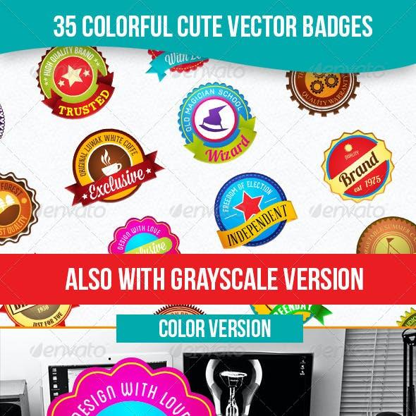 Colorful Cute Badges