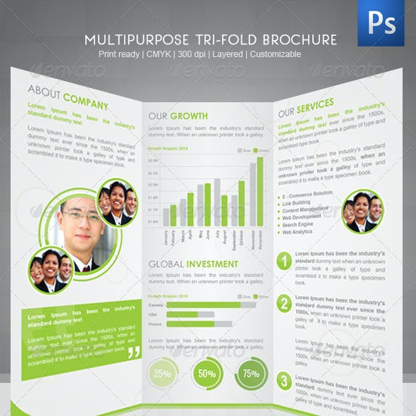Corporate Tri-Fold Brochure III