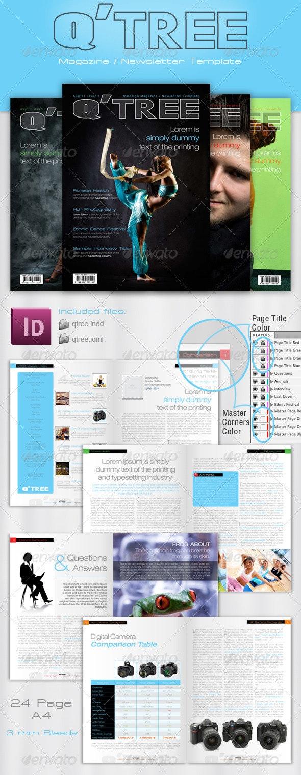 InDesign Magazine / Newsletter Template - Magazines Print Templates
