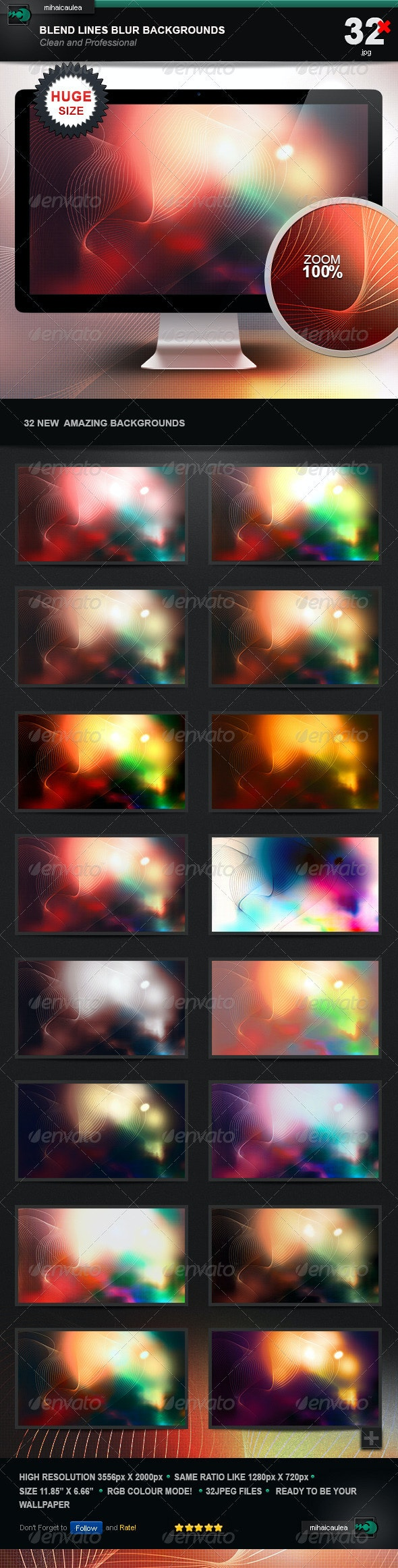Blend Lines Blur Backgrounds - Abstract Backgrounds
