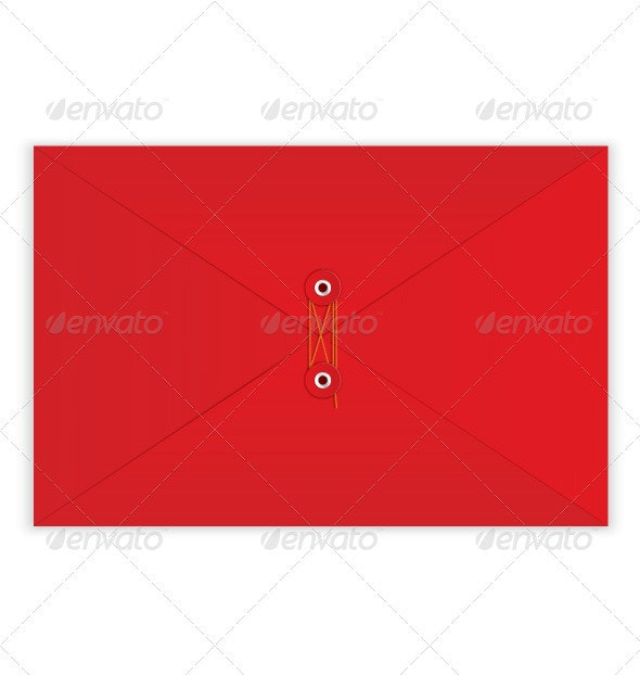 Red Envelope Rope Seal Vector - Objects Vectors