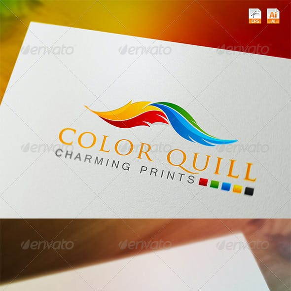 Color Quill - Charming Prints Logo