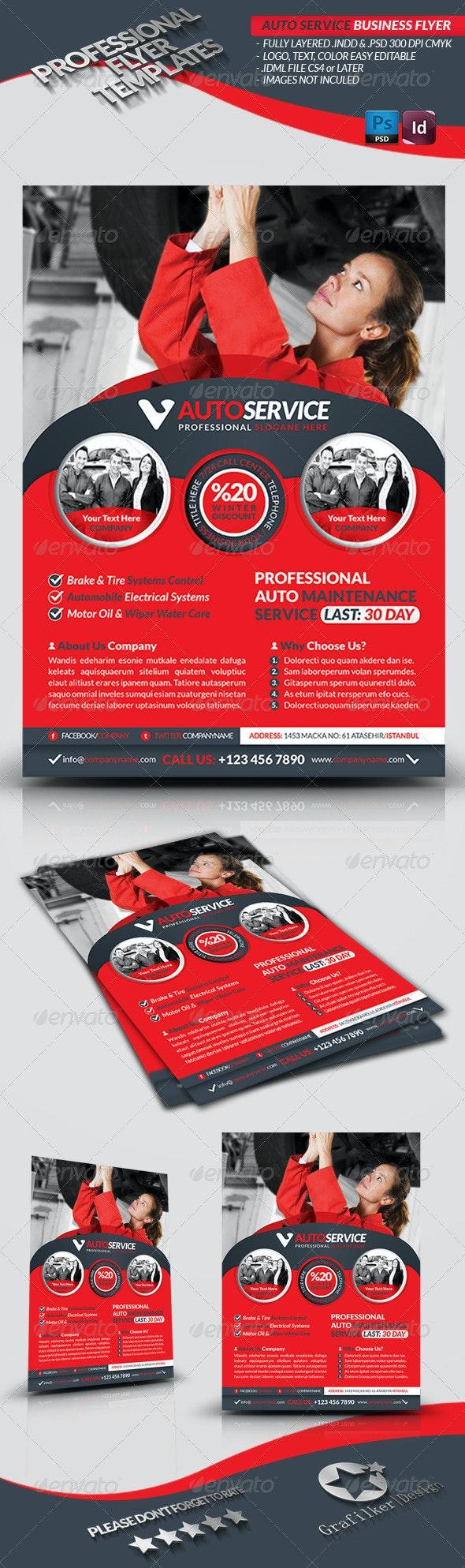 Automobile Service Business Flyer - Corporate Flyers