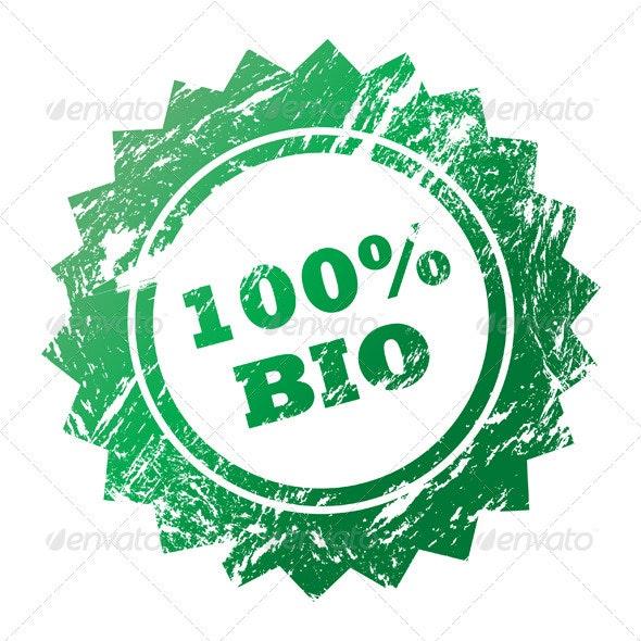 Stamp 100% Bio - Vectors