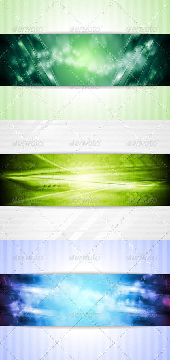 Bright Green and Blue Tech Backgrounds - Backgrounds Decorative