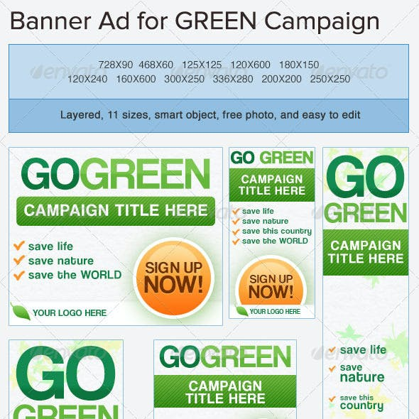 Go Green Banner Ads