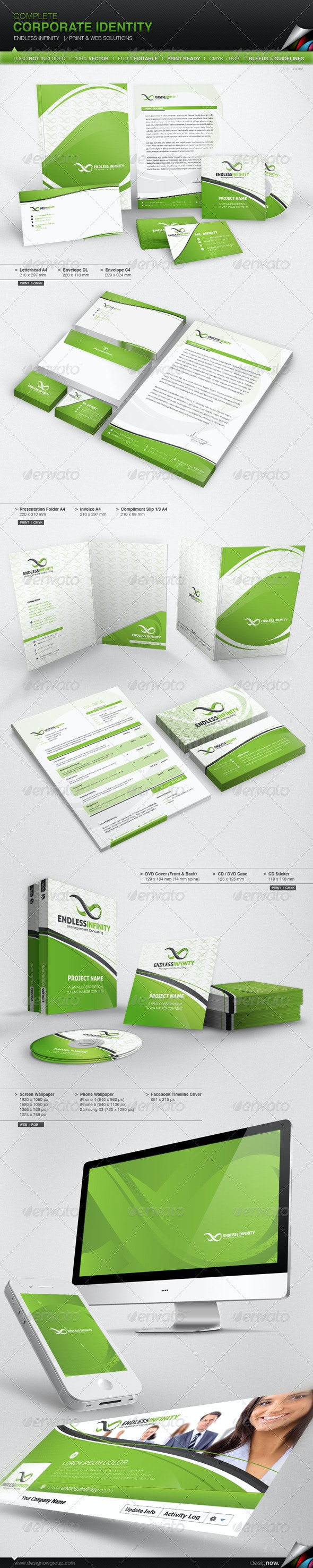 Corporate Identity - Endless Infinity - Stationery Print Templates