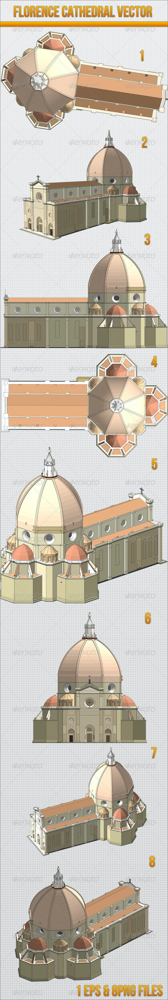 Duomo Florence Cathedral Vector - Buildings Objects