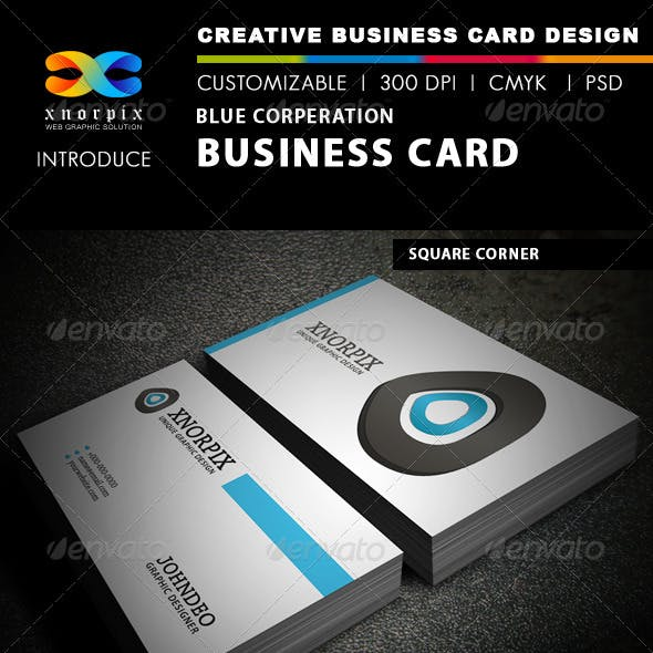 Blue Corporation Business Card