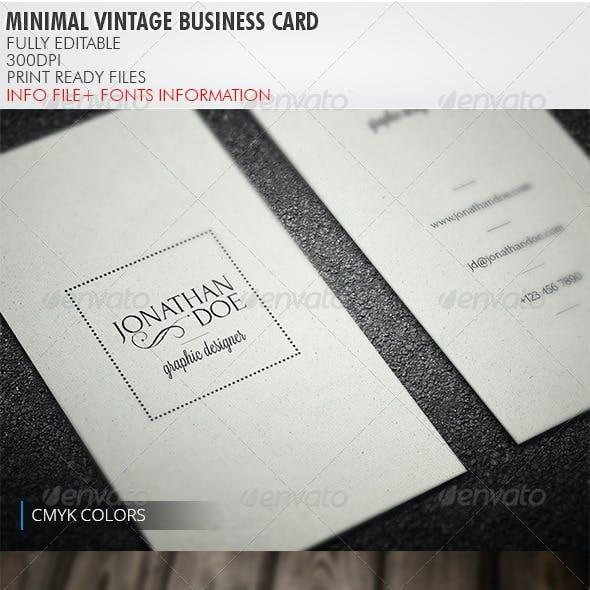 Compre sua arte para Cartão de Visita Vintage minimalista personalizado