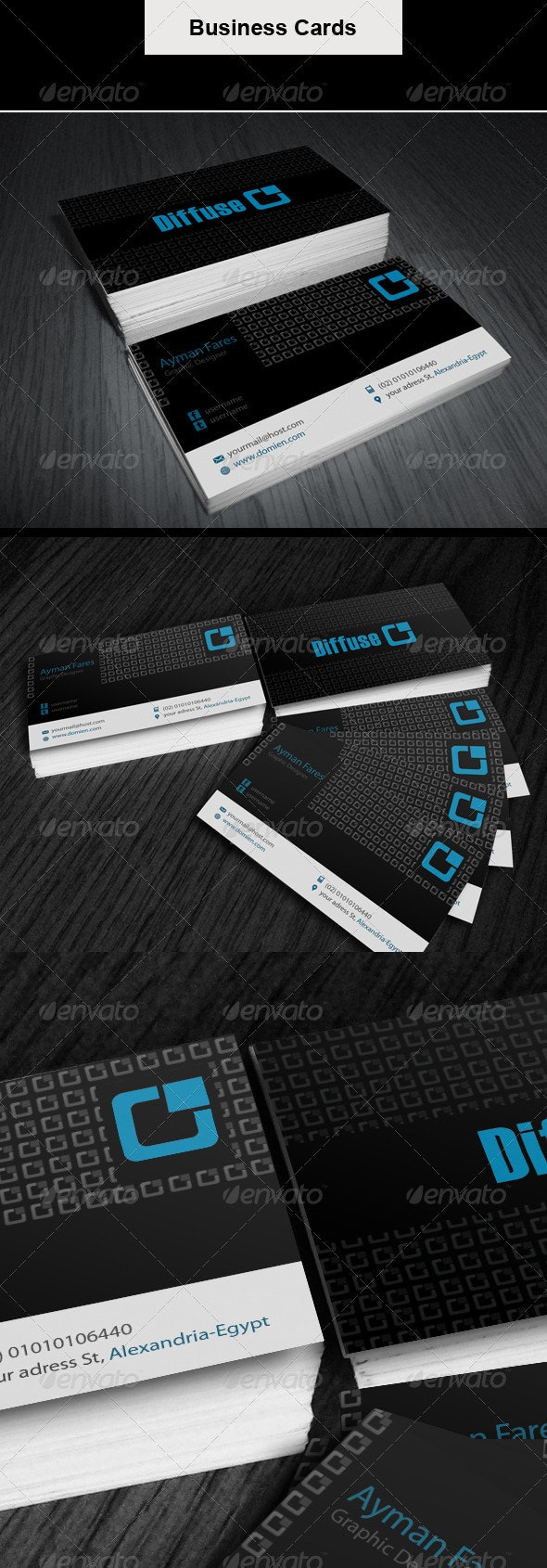 Business Card | Diffuse  - Corporate Business Cards