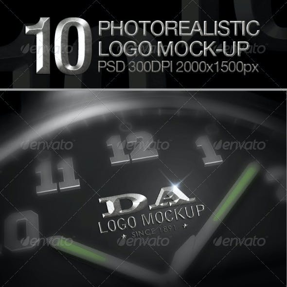 10 Photorealistic Logo Mock-up