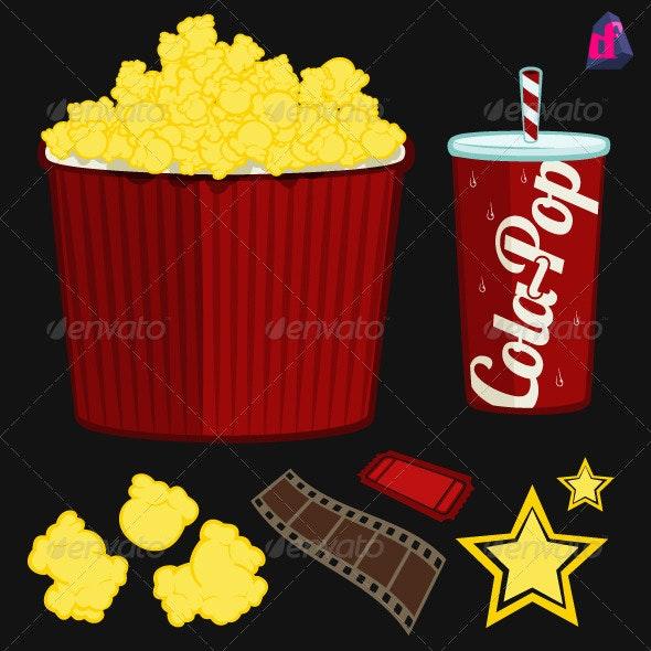 Popcorn Movie Items - Media Technology