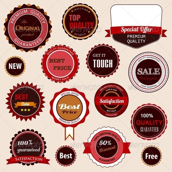 Set of Sale Badges, Labels and Stickers - Retail Commercial / Shopping