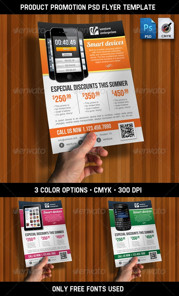Product Promotion - Ad / Flyer - PSD Template - Commerce Flyers
