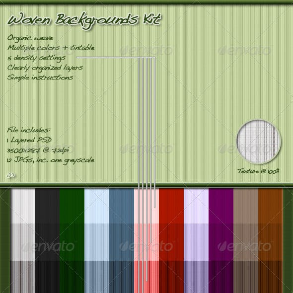 Woven Backgrounds Kit