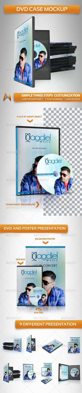DVD Case Mockup - Discs Packaging