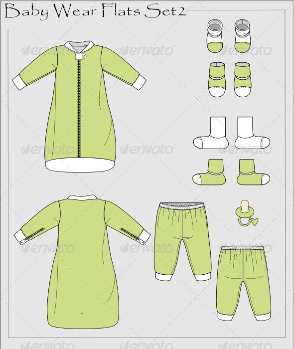 Baby Wear Flats Set 2 - Vectors