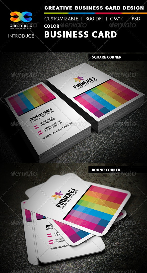 Color Business Card - Creative Business Cards