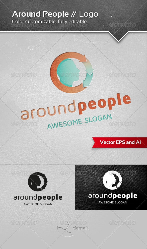 Around People Logo - Humans Logo Templates