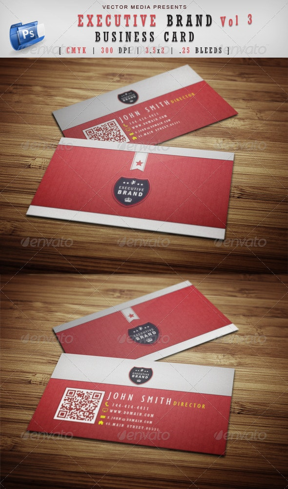 Executive Brand - Business Card [Vol.3] - Corporate Business Cards