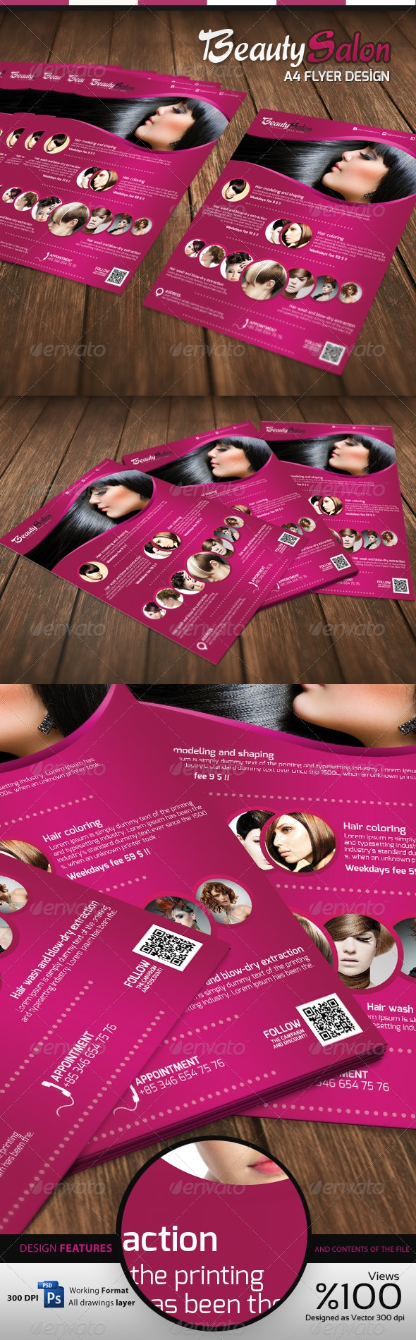 Beauty Salon - A4 Flyer - Commerce Flyers