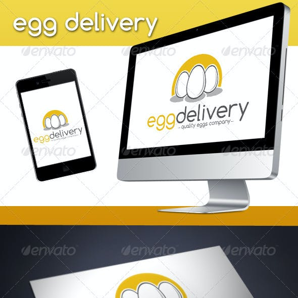 Egg Delivery Logo Template