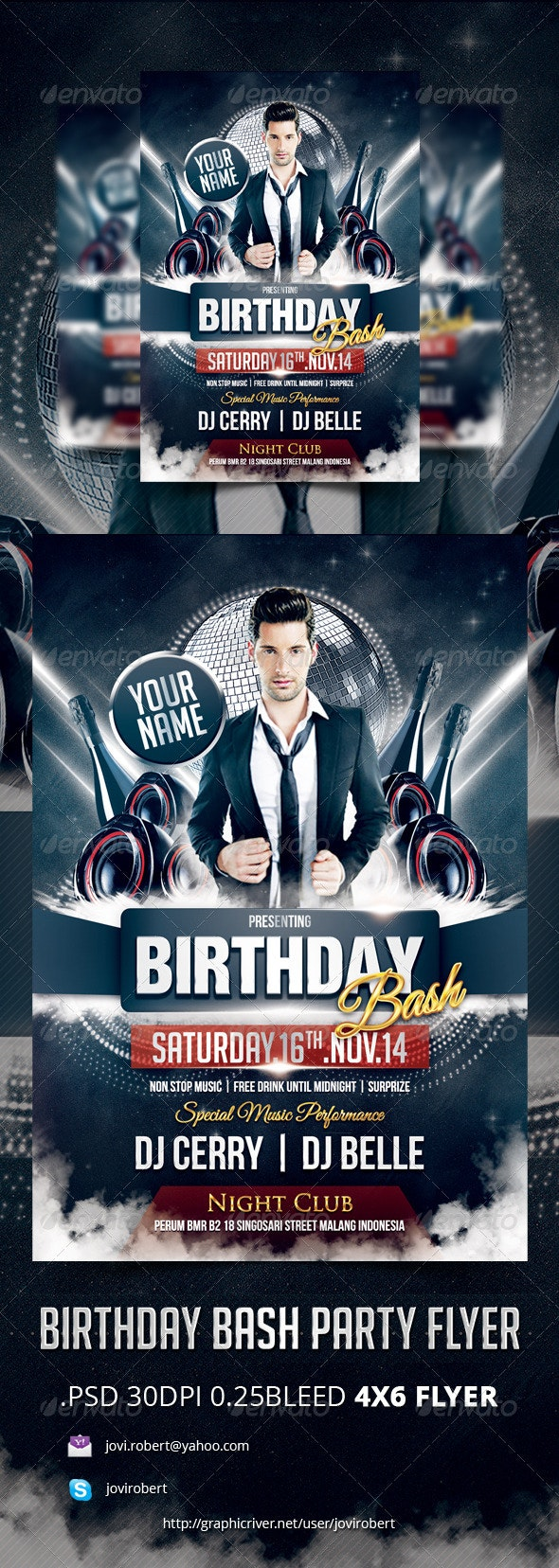 Birthday Bash Party Flyer - Events Flyers
